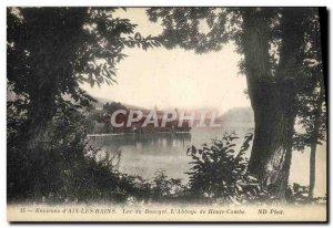 Old Postcard Aix Les Bains Lac Du Bourget L & # 39abbaye Haute Combe