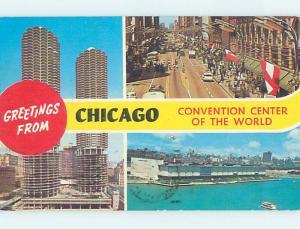 Pre-1980 THREE VIEWS ON CARD Chicago Illinois IL ho7884