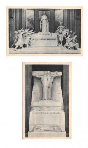 France Paris Pantheon Monuments National Convention Heroes Martyrs 2 Postcards