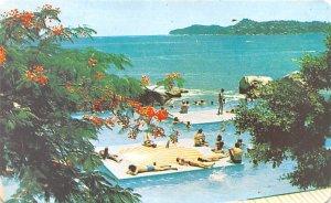 Alberca Hotel Condesa Del Mar Acapulco Mexico Tarjeta Postal Unused