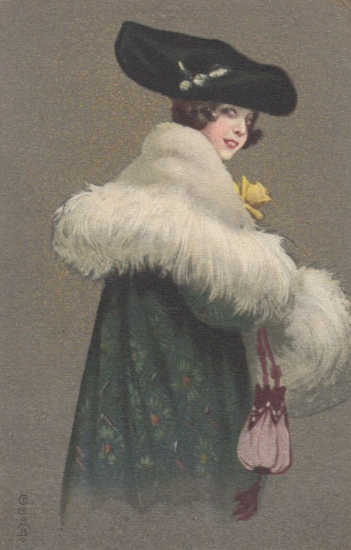 Art Deco ; COLOMBO , Female Elegant Fashion Portrait #4 , 1910-20s