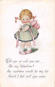 E36/ Valentine's Day Love Holiday Postcard 1916 Cute Girl Sacramento Ca 31