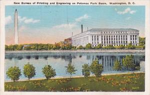 Washington D C New Bureau Of Printing And Engraving On Potomac Park Basin 1932