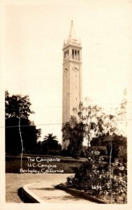 California Berkeley The Campanile University Of California Campus Real Photo