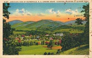 USA Bird´s eye view of Waynesville N. C. Looking South Lickstone Mountain 03.55
