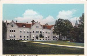Indiana Richmond Reid's Memorial Hospital Curteich 1928