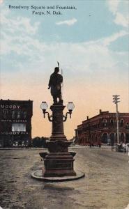 North Dakota Fargo Broadway Square and Fountain Curteich