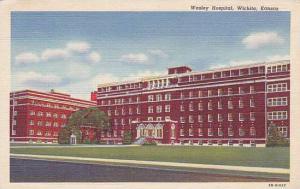 Exterior, Wesley Hospital, Wichita, Kansas, 30-40s