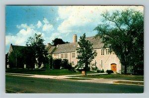 Columbus OH- Ohio, First Community Church, Chrome Postcard