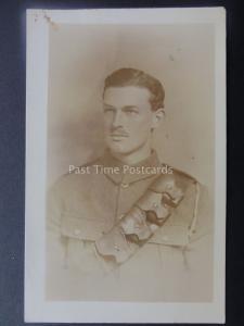 WW1 Military Soldier Portrait c1914 RP Postcard by USA Studios London