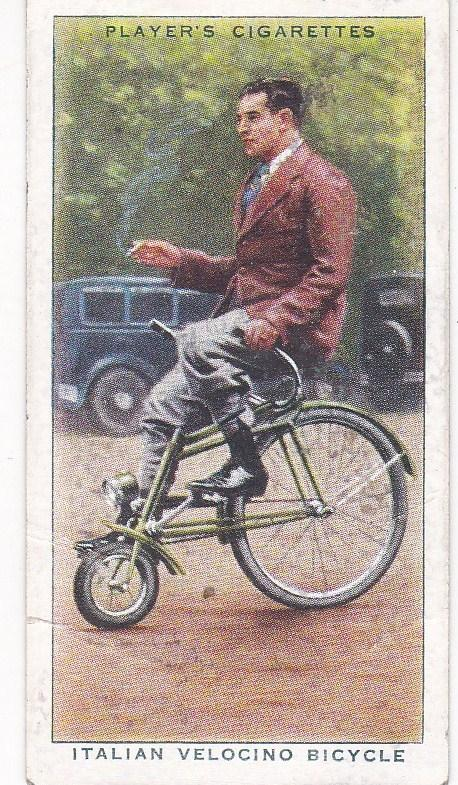 Cigarette Cards Players CYCLING No 30 Italian Velocino Bicycle