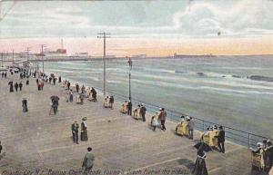 Rolling chair Parade, Young's Ocean Pier, Atlantic City, New Jersey,  PU-1909