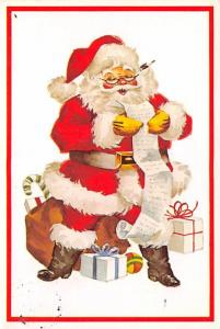 Modern Card Santa Claus 1991 light postal marking on front