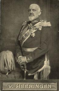 German General Josias von Heeringen in Uniform, Medals (1910s) WWI Postcard