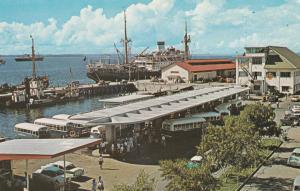 SANDAKAN, North Borneo , Malaysia , 50-60s ; Wharf & Bus Station
