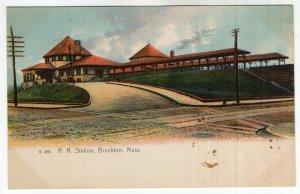 Brockton, Mass, R. R. Station - Rotograph