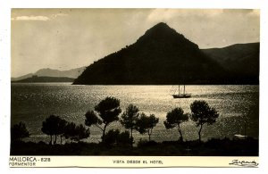 Spain - Mallorca, Formentor. View from the Hotel  *RPPC