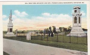 34th New York Infantry And 125th Pennsylvania Monuments, Antietam, Maryland, ...