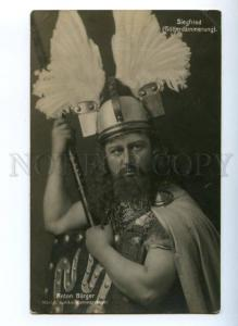 174411 ANTON BURGER German OPERA star SIEGFRIED Wagner PHOTO