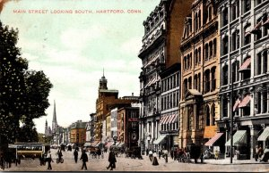 Connecticut Hartford Main Street Looking South 1908