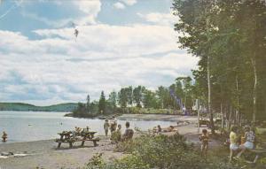 Beach & Picnic Area, Fairbank Lake Provincial Park, Worthington, Ontario, Can...