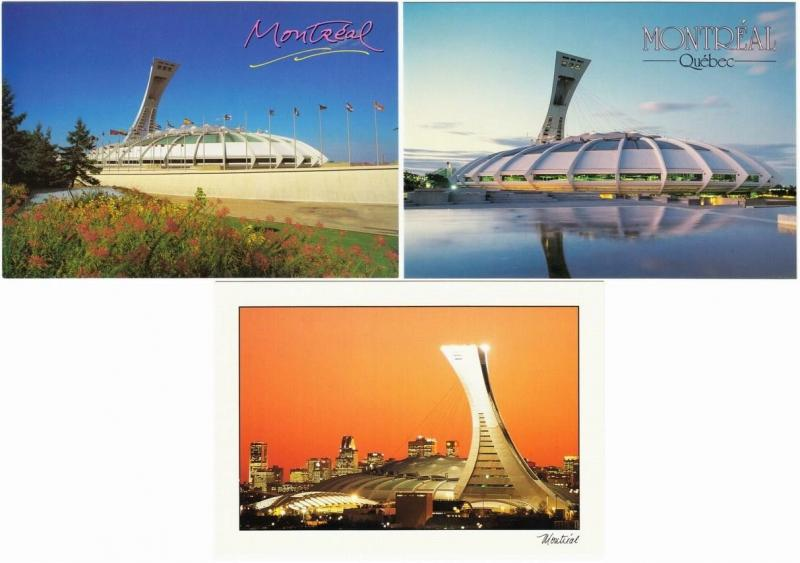 Montreal Olympic Stadium Expos Baseball Lot of 5 Large Postcards