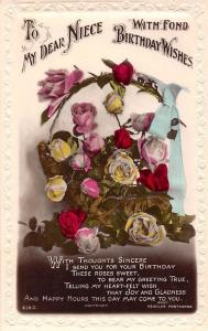 To my Dear Niece, With Fond Birthday Wishes, Roses