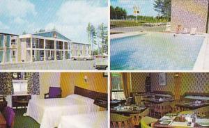 Swimming Pool, Dining Room, Wandlyn Motor Inn, Kentville, Nova Scotia, Canada...