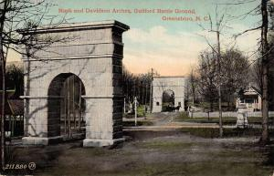 Greensboro North Carolina Guilford Battle Ground Arches Antique Postcard K98306
