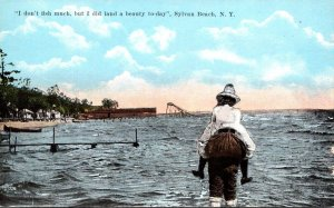 New York Sylvan Beach Man Carrying Woman On Beach I Don't Fish Much But ...