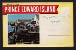 PEI Prince Edward Island Foldout Postcard Booklet Charlottetown Stanhope Beach