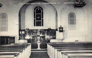 Pennsylvania Chambersburg Zion Church Sanctuary Artvue