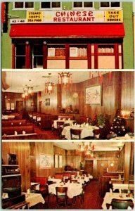 RED BANK, New Jersey Postcard TANG'S RESTAURANT Chinese Food / 3 Views c1960s