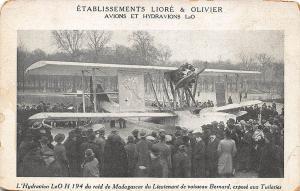 Aircraft and Seaplane LeO H 194 of Raid Madagascar Liore & Oliver Postcard