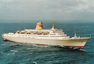 Norwegian America Line Cruise Ship VISTAFJORD , 1974