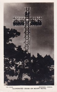 RP: MONTREAL , Quebec , 1930-40s ; Cross on Mount Royal