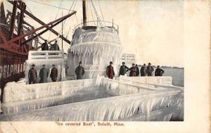 6129 MN Duluth  Ice covered Boat,