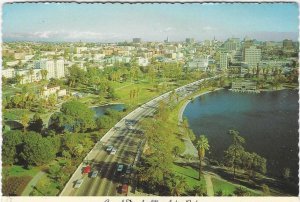 Vtg 1977 Douglas MacArthur Park, Los Angeles, California Postcard