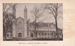 Massachusetts Gore Hall Harvard University Library