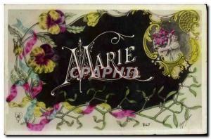 Old Postcard Fancy Surname Marie Children