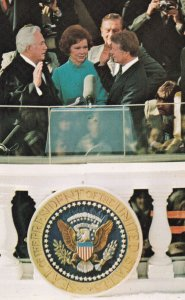 Jimmy Carter being sworn in as President, 1950-60s