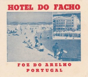 Portugal Foz Do Arelho Hotel Do Facho Luggage Label sk4609