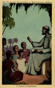 brazil, MATTO GROSSO, The Tertiary Franciscans Mission, Catechism Lesson (1930s)