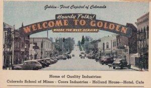 GOLDEN , Colorado , 1930s ; Main Street