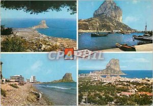 Postcard Modern Calpe (Alicante) View of the Rock of Ifach