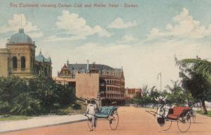 DURBAN , South Africa, 1900-10s ; Bay Esplanade , Durban Club & Marine Hotel