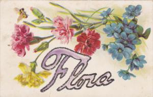 Flora, Glitter detail, Carnations and Violet Flowers, 00-10s