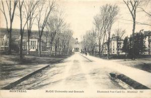 Canada Montreal 1905 McGill University and grounds