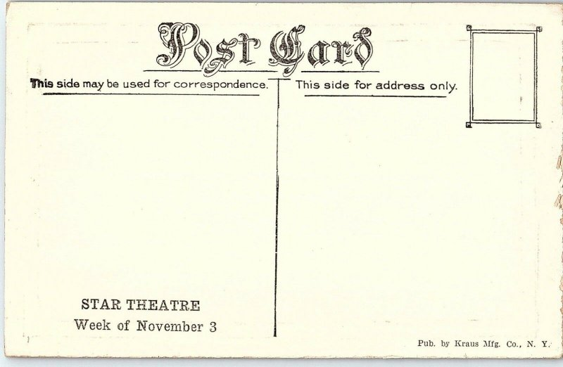 C.1910 Stage Show Play Billy W. Watson Girls From Happyland Postcard P117
