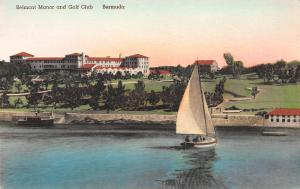 Belmont  Manor and Golf Club, Bermuda, early hand colored postcard, unused